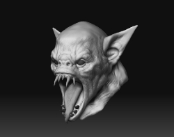 Monster Head Practice 01, Large View